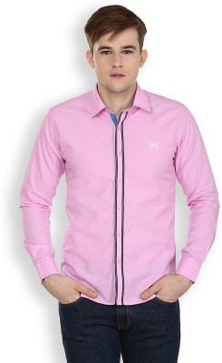 Cotton County Premium Men's Solid Casual Pink Shirt
