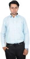 The Mods Formal Shirts (Men's) - The Mods Men's Checkered Formal Linen Blue, White Shirt