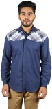 Sickey Men's Solid Casual Blue Shirt