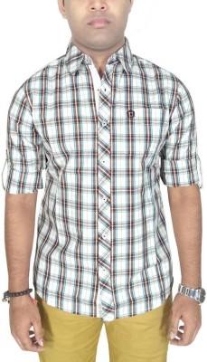 Southbay Men's Checkered Formal Brown Shirt