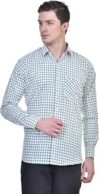 Comfortline Men,s Checkered Casual Green Shirt