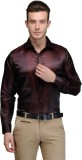 Hancock Men's Solid Casual Maroon Shirt