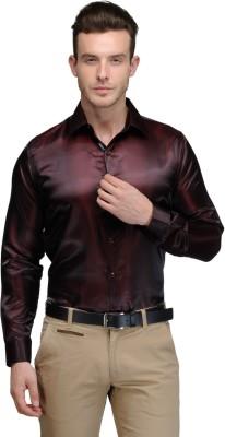 Hancock Men's Solid Casual Maroon Shirt