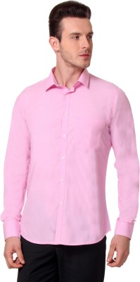 Yell Men's Solid Party Pink Shirt