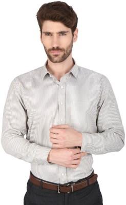 Big Tree Men,s Striped Formal Grey Shirt