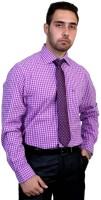 Port Formal Shirts (Men's) - Port Men's Solid Formal Purple Shirt