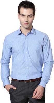 Van Heusen Men's Polka Print Formal Blue Shirt