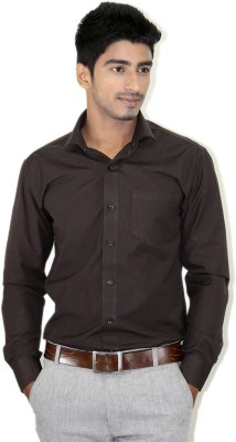 Piccolo Clothings Men's Solid Formal Brown Shirt