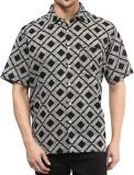 Vivid India Men's Checkered Casual Black...