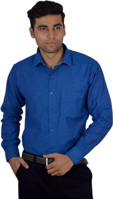 Studio Nexx Men's Solid Formal Dark Blue Shirt