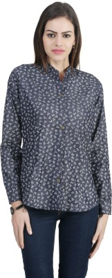Archiz Women's Printed Casual Black Shirt