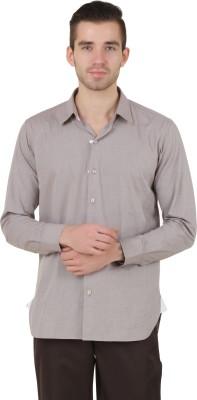 Roar and Growl Men,s Solid Formal Brown Shirt