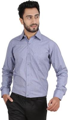 Hippoolife Men's Checkered Formal Grey Shirt