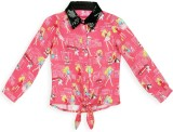 Barbie Girls Graphic Print Casual Pink S...