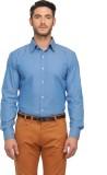 Jogur Men's Solid Casual Blue Shirt