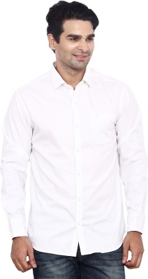 ANDY TRENDZ Men's Solid Casual White Shirt
