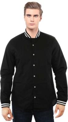 I CUBE CLUB Men's Solid Casual Black, White Shirt