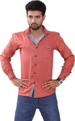 Bleu Men's Solid Casual Red Shirt