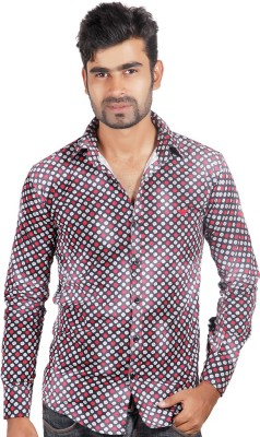 Alley Brothers Men's Printed Casual Black Shirt