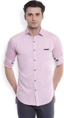 Skie Studio Men's Printed Casual Pink Shirt