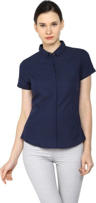Arrow Womens Solid Casual Blue Shirt