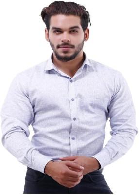 La MODE Men's Solid Casual Purple Shirt