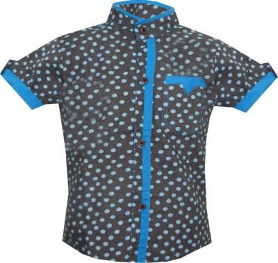 JBN Creation Boy's Polka Print Casual Black, Blue Shirt