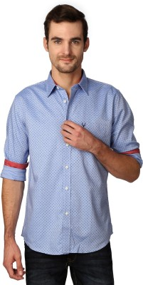 Allen Solly Men's Printed Casual Blue Shirt