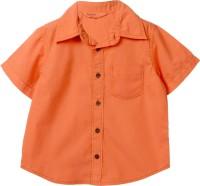 Beebay Boys Solid Casual Orange Shirt