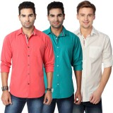 Suspense Men's Solid Casual Red, Green, ...