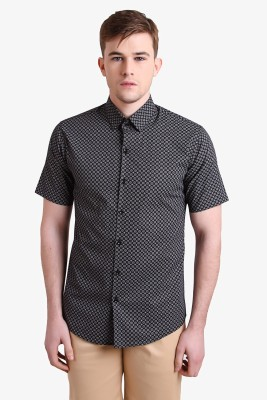 Alvin Kelly Men's Printed Casual Black Shirt