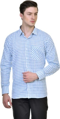 Comfortline Men's Checkered Casual Blue Shirt