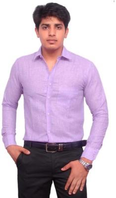 Rose Wear Men's Solid Formal Purple Shirt