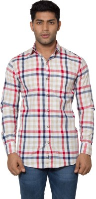 Tabser Men's Checkered Casual Red Shirt