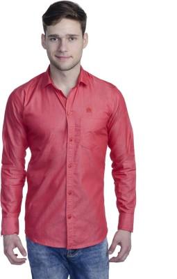 Aligatorr Men's Solid Formal Red Shirt