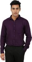 Aaral Formal Shirts (Men's) - Aaral Men's Solid Formal Purple Shirt
