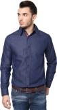 PUNK Men's Solid Casual Blue Shirt