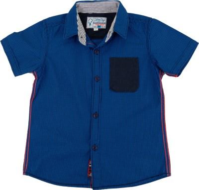 Biker Boys Boy's Checkered Casual Blue Shirt