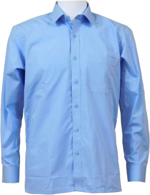 Ardeur Men's Solid Formal Light Blue Shirt