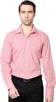 Van  Heusen Formal Shirts (Men's) - Van Heusen Men's Checkered Formal Red Shirt