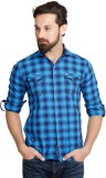 Flakes Fashion Men's Solid Casual Blue S...