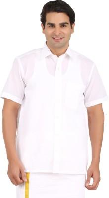 GM Men's Solid Wedding, Formal, Wedding White Shirt