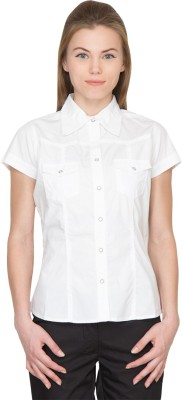 Species Women,s Solid Formal White Shirt