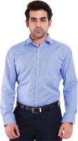 Mild Kleren Formal Shirts (Men's) - Mild Kleren Men's Checkered Formal Blue Shirt