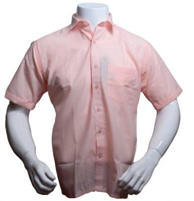 Qube Men's Solid Formal, Festive Pink Shirt