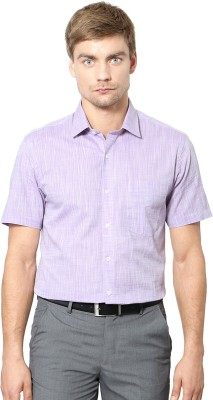 University of Oxford Men's Solid Casual Purple Shirt