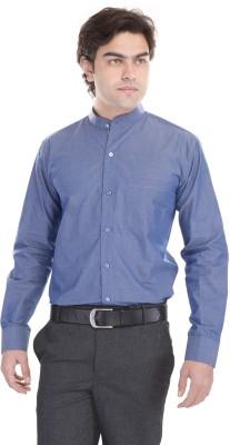 Cinchstore Men's Solid Formal Blue Shirt