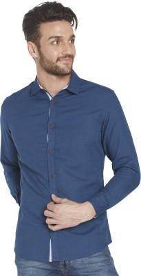 Globus Men's Solid Casual Blue Shirt