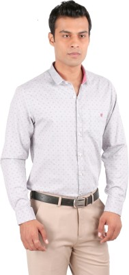 JHAMPSTEAD Men,s Solid Casual White Shirt
