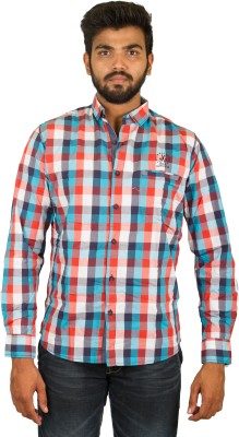 Groove Men's Checkered Casual Multicolor Shirt